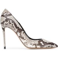 Casadei Sapato Zambe Com Textura De Cobra - Cinza