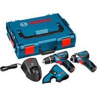 Kit Furadeira A Bateria Gsr120-Li E Parafusadeira Gdr120-Li A Bateria Azul Bosch