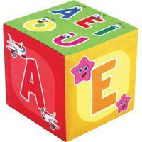 Cubo Vogais - Vermelho & Verde- 13X13X13Cm - Ciacia Brink