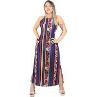 Vestido Midi Dec Halter - Riu Kiu
