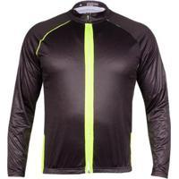 Camisa Ciclismo Yangfit Com Ziper E Bolso Manga Longa - Masculino