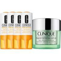 Kit Facial Clinique Fresh Pressed Vitamina C + Hidratante Superdefense Moisturizer