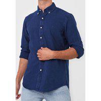 Camisa Polo Ralph Lauren Reta Logo Azul