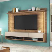 Painel Home Suspenso Para Tv Até 65 Polegadas Com Suporte Para Tv Magnific 2.2 Caemmun Buriti/Off White