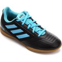 Chuteira Futsal Infantil Adidas Predator 19 4 In - Masculino-Preto+Azul