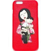 Dolce & Gabbana Capa Para Iphone 6 Plus De Couro - Vermelho