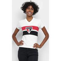Camisa São Paulo 1980 Retrô Mania Feminina - Feminino