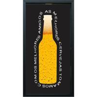 """Print Porta Tampinhas """"As Melhores Cervejas""""- Preto & Amkapos"""