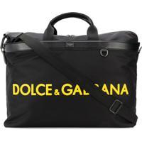 Dolce & Gabbana Mala Com Logo - Preto
