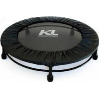 Mini Cama Elástica Jump 150 Kg + Capa Protetora + Dvd - Unissex-Preto