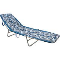 Cadeira Mormaii Espreguiçadeira Dobrável Azul