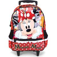 Mala Infantil Disney Xeryus Com Rodas 16 Minnie Its All About Minnie - Feminino-Vermelho