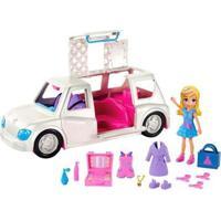 Boneca Polly Pocket Limousine Fashion Com Acessórios Mattel - Feminino-Azul+Branco