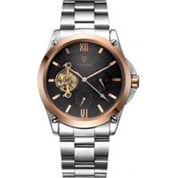 Relógio Tevise 8502 Masculino Automático Pulseira Aço - Preto E Dourado