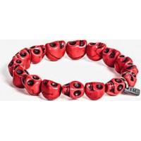 Pulseira Hermoso Compadre Red Skull Masculina - Masculino-Vermelho