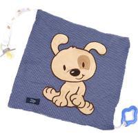 Cobertor Cachorrinho - Azul Marinho & Bege- 34X34Cm Bicho Molhado