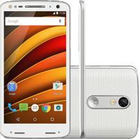 Smartphone Motorola Moto X Force Xt1580 - 64Gb - 3Gb - 4G - Dual Chip - 20Mp - Branco - Android 5.1