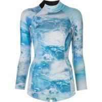 Cynthia Rowley Wetsuit Com Estampa - Azul