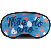 Máscara De Dormir Meu Primeiro Quartinho Mãe Do Ano Azul