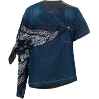 Sacai Blusa Jeans - Azul