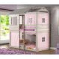 Beliche Infantil Club House Com Tecido Rosa - Madeira Maciça - Casatema