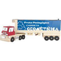 Carreta Geométrica Frota Pedagógica - Bege & Azul- 1Carlu