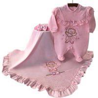 Saída De Maternidade Sônia Enxovais Menina Ursinha Ballet Rosa