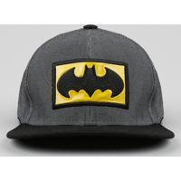 Boné Infantil Batman Aba Reta Com Bordado Chumbo