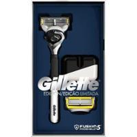 Aparelho De Barbear Gillette - Unissex-Cinza+Preto