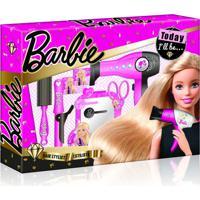 Barbie Hairstylist Escova Com Acessórios De Beleza Material Plástico Indicado Para +3 Anos Rosa Multikids - Br815 - Padrão