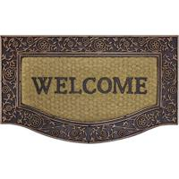Tapete Welcome Retangular (45X75) Bege