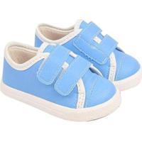 Tênis Bebê Soft Sonho De Criança Conforto Masculino - Masculino-Azul Claro
