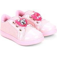 Tênis Infantil Klin Mini Gloss Feminina - Feminino-Rosa