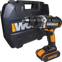 Furadeira De Impacto Parafusadeira 2 Baterias 20V Wx372 Worx