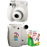 Câmera Instantânea Fujifilm Instax 7S + Filme Instantâneo Fujifilm Instax Pack Com 20 Unidades