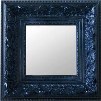 Espelho Moldura Rococó Raso 16141 Preto Art Shop