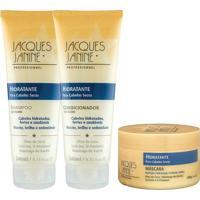 Kit De Shampoo & Condicionador + Mã¡Scara Hidratante- Jacjacques Janine