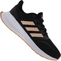 Tênis Adidas Run Falcon K - Infantil - Preto/Coral