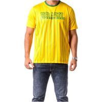 Camiseta Braziline Manga Curta Brasil Xingu Adulto - Feminino