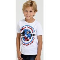 Camiseta Infantil Capitão América Marvel