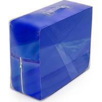 Capa De Sofá Bordados Ricardo Coladinha 02 Peças Azul Escuro
