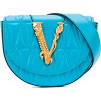 Versace Pochete Com Placa De Logo - Azul