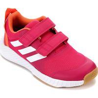 Tênis Infantil Adidas Fortagym Cf K Velcro Feminino - Unissex-Rosa