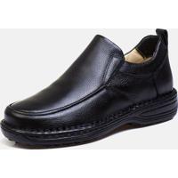 Sapato Casual Couro Torani Palmilha Gel Confort Preto
