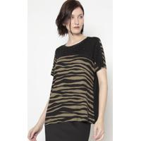 Blusa Zebra- Preta & Verde- Shirley Dantasshirley Dantas