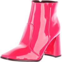 Bota De Salto Damannu Shoes Laila Verniz Pink Neon - Tricae