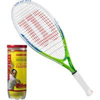 Netshoes  Raquete De Tênis Us Open Infantil 21 + 1 Pack 03 Bolas  Championship Wilson - Unissex 046e0a981ebce