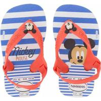 Sandália Bebê Havaianas Disney Classic Mickey Masculina - Masculino-Azul+Vermelho