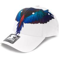 Marcelo Burlon County Of Milan Kids Bird Wing Printed Cap - Branco