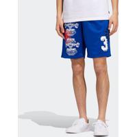 Short Adidas Print Azul